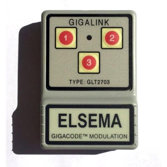 Elsema Gigalink 27.145Mhz 3 Button Remote GLT2703