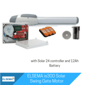 Elsema iS300 Single Swing Gate with Solar Kit
