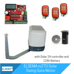 Elsema iS270 Single Swing Gate with Solar Kit