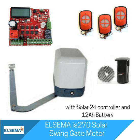 Elsema iS270 Single Swing Gate with Solar Kit