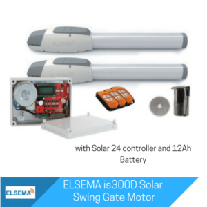 Elsema iS300 Dual Swing Gate with Solar Kit