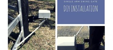 Single Arm Swing Gate DIY installation