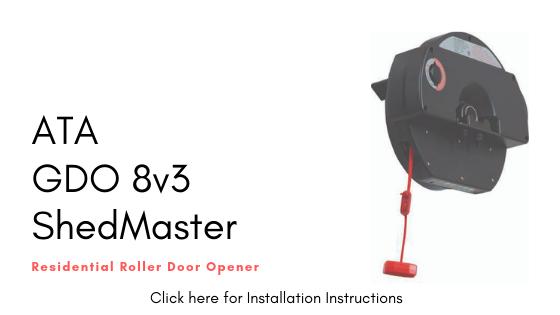 Installation Instructions for ATA GDO 8v3 Shed Master