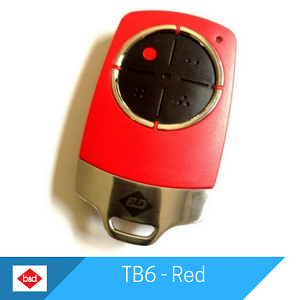 TB6 Remote - Red by B&D Doors