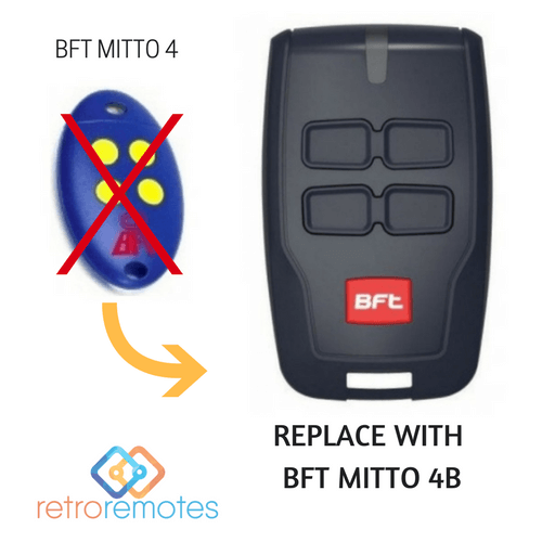 BFT Mitto 4 Blue Remote replaced by BFT Mitto 4B