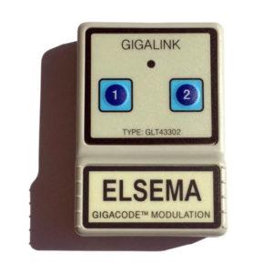 Elsema Gigalink 433.92Mhz 2 Button Remote - GLT43302