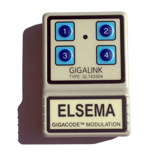 Elsema Gigalink 433.92Mhz 4 Button Remote - GLT43304