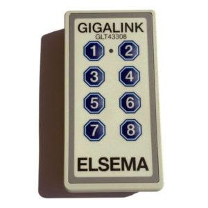 Elsema Gigalink 433.92Mhz 8 Button Remote - GLT43308