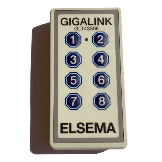 Elsema Gigalink 433.92Mhz 8 Button Remote - GLT43308