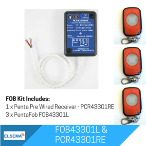 Elsema FOBKIT FOB43301L - 1 Ch Pre Wired Receiver
