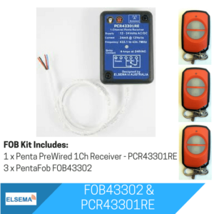 Elsema FOBKIT FOB43302 with 1 Ch Pre Wired Receiver