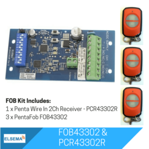 Elsema FOBKIT FOB43302 with 2 Ch Wire In Receiver