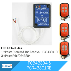 Elsema FOBKIT FOB43304 with 1 Ch Pre Wired Receiver