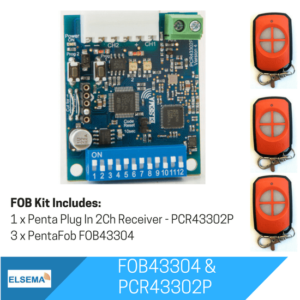 Elsema FOBKIT FOB43304 with 2 Ch Plug In Receiver