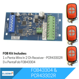 Elsema FOBKIT FOB43304 with 2 Ch Wire In Receiver