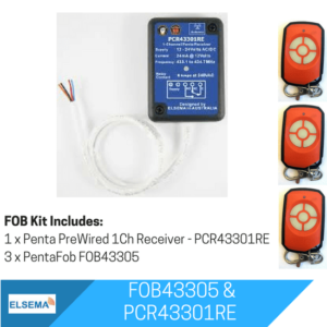 Elsema FOBKIT FOB43305 WITH 1 CH PRE WIRED RECEIVER
