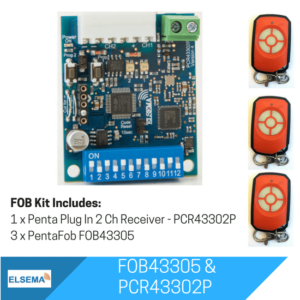 Elsema FOBKIT FOB43305 with 2 Ch Plug In Receiver