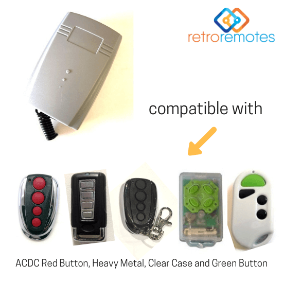 ACDC remotes compatible with Lexo 400 Capacity Receiver