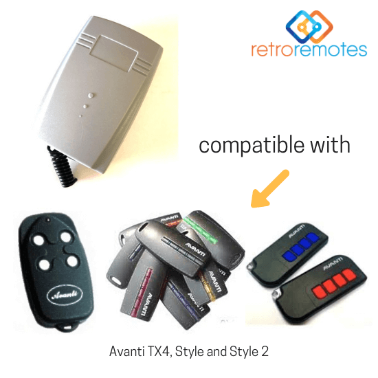 Avanti remotes compatible with Lexo 400 Capacity Receiver