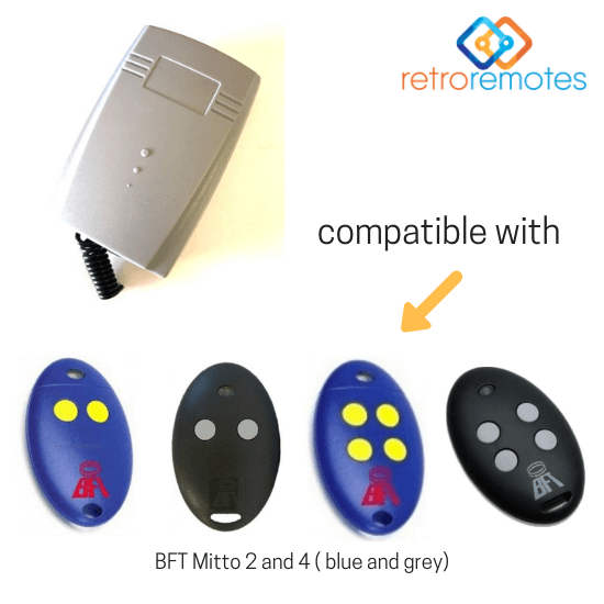 BFT Mitto 2 and 4 remotes compatible with Lexo 400 Capacity Receiver