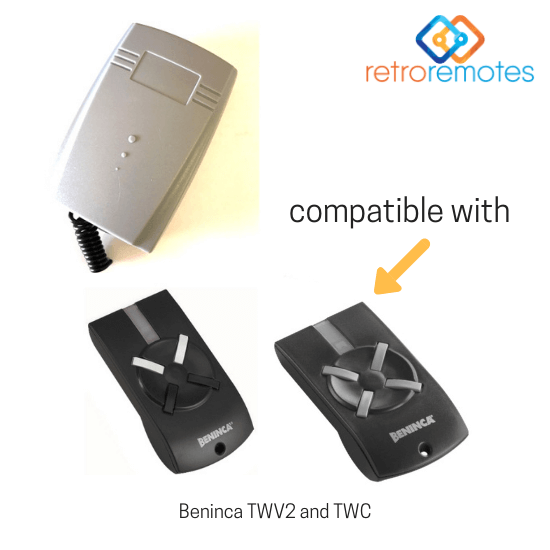 Beninca TWV2 and TWV4 remotes compatible with Lexo 400 Capacity Remote