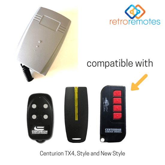 Centurion Remotes compatible with Lexo 400 Capacity Receiver