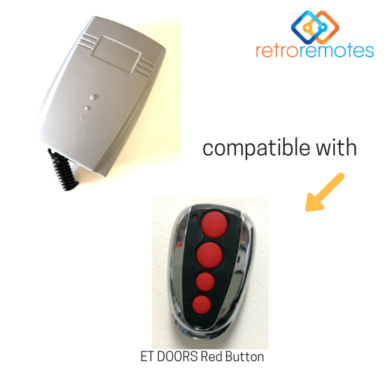ET Doors Red Button Compatible with Lexo 400 Capacity Receiver