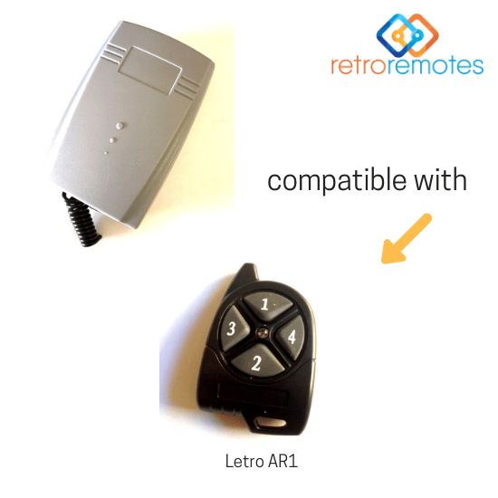 Letro AR1 remote compatible with Lexo 400 Capacity Receiver