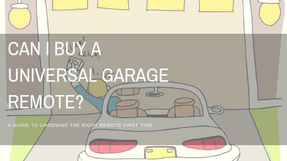 Can I buy a Universal Garage Remote