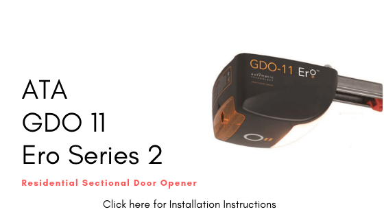 Installation Instructions ATA GDO 11 ERO Series 2