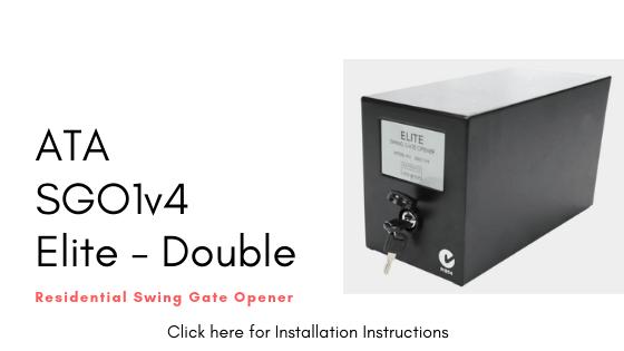 Installation Instructions for ATA SGO1v4 Elite - Double