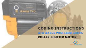 How to install the Axess Pro 3310 415V - 1 HP