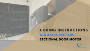 How to Install the ATA Axess Pro 1505 Sectional Door Motor