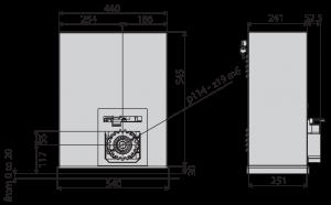 Dimensions of BFT SP3500 TRI 400
