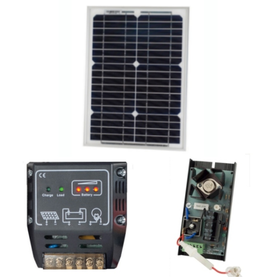 ELSEMA SOLAR 24 KIT with SOLAR CHARGER AND 12V Battery