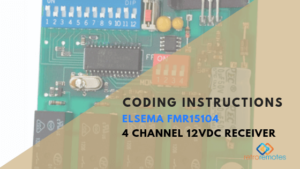 How to Install the Elsema 151MHz 4 Channel 12VDC Receiver