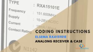 Elsema 151MHz - Analog Receiver and Case - RXA15101E