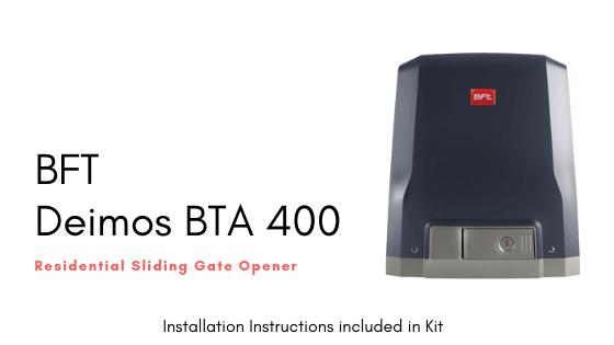 Installation Instructions for BFT Deimos BT A400