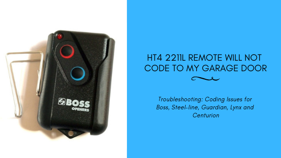 HT4 2211L Remote Coding Issues