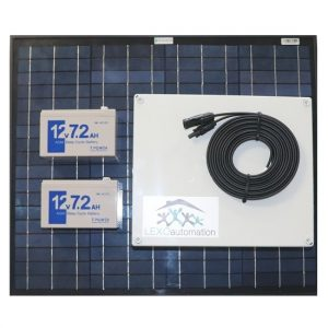 LEXO 24v Solar kit with 40w Panel 2 x 7.0ah Battery