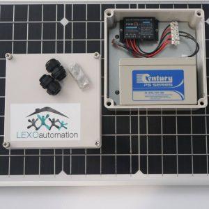 LEXO 12v Solar kit with 40w Panel 7.0ah Battery